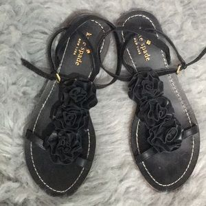 Kate Spade ♠️ NY Caryl Rose black leather sandals